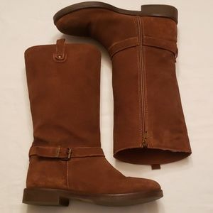 Zara Leather Brown Boots size 3